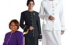 Clergy Apparel - Womens Clergy Attire / Since 1996, Christian Expressions has been providing fine clergy attire for women including clergy robes, clergy blouses & shirts, ladies clergy albs and church dresses.Our womens clergy apparel for sale usually ships in 2-3 days from date of purchase