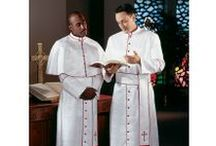 Clergy Apparel - Bishop Cassocks / Bishop cassocks offered in a variety of fabrics and colors. Christian Expressions features clergy cassocks by name brands RJ Toomey and Murphy Robes