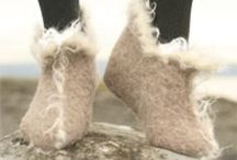 felted footwear / wet felted slippers, shoes, boots and sandals. :)