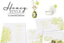 HONEY STYLE  / HONEY STYLES zu den Honeybird Designlinien Stil und Farbwelt einer Hochzeitspapeterie  Honeybird fine letterpress cards  Letterpress und Flachdruck