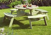 Mi Garden Benches / Our hand-pinned selection of our garden bench collection.