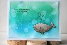Cards Whales / cards with whales using cricut and stamps / by Janice Raso