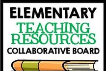Collaborative Board: Elementary Resources / Elementary teaching ideas, lessons, and resources.  Pin as much as you like - just be sure to make an effort to repin other pins from this board to your boards!