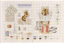 Le monde de Beatrix Potter / punto croce