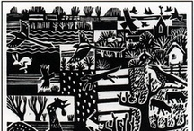Block Print / Mostly lino- and wood cuts.