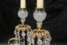 Chandeliers & Lighting / The antique lighting we provide includes candleholders & an antique brass chandelier. Also often a table lamp, antique brass floor lamp, brass desk lamp, antique standard lamp, ceramic table lamps, regency candlesticks, oriental lamps and vases.