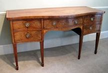 Sideboards & Serving Tables / Wilkinson Antiques, UK provides period furniture which often includes antique sideboards, antique serving tables, side cupboards, antique chiffoniers, serpentine sideboard, regency Georgian mahogany sideboard, mahogany console table, 18th century oak dresser, etc.