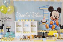Baby Mickey Mouse Sweet/Dessert Table / Baby Mickey Mouse 1st Birthday Sweet/Dessert Table. All sweets, styling, design and pictures by Masterpiece Of Cake.