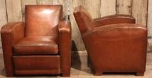LEATHER SEATING / Antique, vintage, 20th and 21st century leather seating, sofas and stools that are or have been for sale on the Decorative Collective website.