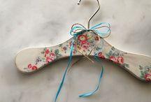Vintage hanger / Decoupage vintage hanger