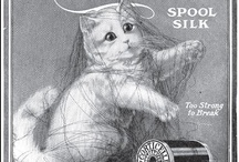 Threads - Old&Vintage Ad's / Old advertising and publicity pages from grandma's textile magazines about threads for embroidery, crochet, tatting,
