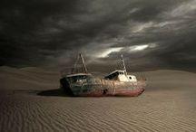 ✞,︵‿ ✞ Abandoned Ships  ✞,︵‿ ✞ / by Sandra Bing