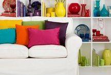 Interieur - Kleur in huis / Van stijlvol tot over de top kleur gebruik.
