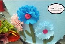 Kunin Felt DIY Flowers / Fun Felt Flowers created from Kunin Felt for crafting, home décor and accessories.