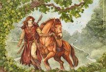 Dzieła Tolkiena / Ciekawe rysunki postaci, miejsc i stworzeń ze świata Tolkiena
