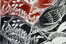 Linocut & engraving