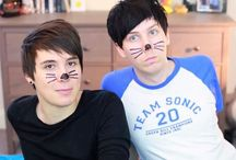 Dan and Phil / danisnotonfire and AmazingPhil