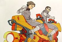 iLUSTration /vehicles / Digital and traditional art Cars, motorbikes, spaceships & mounts