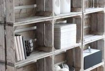 Bookcases / Homemade bookcases.