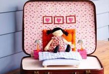 Kunin Felt Travel Suitcases for Kids / DIY a suitcase into a creative travel play space for the kids.