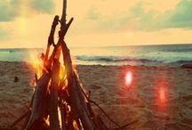 Ogniska i grile na plaży :)