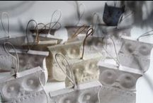 PP Ornament / materials: recycled paper pulp, natural fibers / they are biodegradable