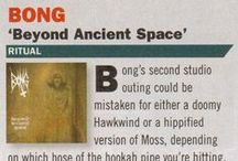 Bong 'Beyond Ancient Space' reviews / As with all their music be it live performance or studio recordings, Beyond Ancient Space follows the same ritualistic path, that is to say the songs are all mesmerising meditative jams centered around an unfurling guitar riff and gelled by spaced-out drum beats, the occasional crashing cymbals and Dave Terry's distinctive vocal style. Once again Bong are shunning any overdubs and keep the post-production to a minimum.