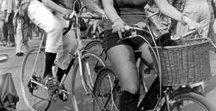 Biciclette: la ciclista in B/N
