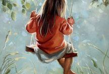 Innocence, childhood  / Το πρωί να γελάς σαν παιδί. Το μεσημέρι να κουβεντιάζεις φρόνιμα. Και το δειλι να δακρύζεις περήφανα. Δημήτρης Λιαντίνης