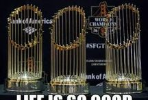 San Francisco Giants - Kings Wear Rings! World Champs! / Winners!  Orange and Black....The Fans, the Freak, the Panda, the Blockbuster, Buster, the Giraffe, We are the G Men!  / by J SANCHEZ