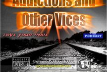 Addictions and other Vices Podcast / Radio Podcast  Addictions and other Vices. Hosted by Tom McNeil of the band parker BOMBSHELL A mix of New Wave, Electronic , Alternative and Indie Music.  http://www.spreaker.com/user/addictions1 http://audioburger.com http://parkerbombshell.com