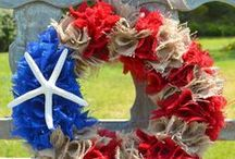 Patriotic Decoration / Inspiration collected by Calla Décoration. Patriotic Decoration Ideas...