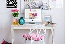 Home Office / Ideas for a bright and colorful home office!