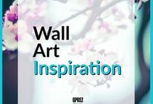Wall Art Inspiration / Some great ideas on how to decorate and organize wall art at home. Countless ways to position frames!