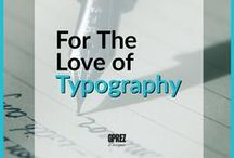 For The Love Of Typography / Here are some pretty awesome typefaces that I've come across Pinterest. Great to use in design work and projects. I've used and are currently using some of these typefaces in my work. Spread the typography love! :)