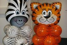 Animal Party for Party Animals / Animals are a cute and trendy theme for a kids birthday party or a baby shower! From sweet owls and frogs, zoo giraffe, lions and elephant to dinosaurs, we have all the balloons you need to fufill the dream of your party animal!
