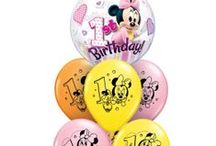 Let's bring some Mickey Mouse and Minnie Mouse fun to your party! / 1,2,3... Celebrate your little one's birthdays with their favorite Disney characters! Qualatex created Mickey Mouse and Minnie Mouse licensed products for babies and kids. With sweet pastel colors, trendy polka dots, and sweet hearts there are plenty of ideas to make the birthday boy or the birthday girl smile.