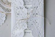 Invitation cards + Wedding programs