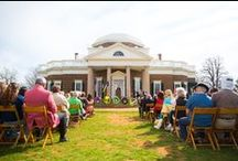 Founder's Day / Every April, Monticello marks the University of Virginia's Founder's Day and the anniversary of Thomas Jefferson's birth with ceremonies. A guest Thomas Jefferson Foundation Medal-winner speaks at a special ceremony on the West Lawn, wreaths are presented, and birthday cake is served.  / by Thomas Jefferson's Monticello