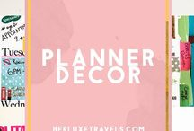Planner Ideas Decor & Inspiration / Get inspiration from myself and others on how to redecorate your planner. Use your planner to express your creativity and get ORGANIZED! Herluxetravels.com