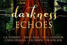 "Darkness Echoes / My story ""Lantern"" is one of many spooky stories in the #DarknessEchoes YA anthology. I'm super excited to have my name next to these amazing authors: L.A. Starkey, Kelly Hall, D.E.L. Connor, DB Nielsen and CK Dawn."