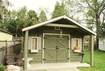 Porches for sheds / We build lovely porches on our sheds.