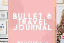 Travel Journal & bullet Journal for newbies / Tips and ideas for your bullet Journal , resources and things to buy for your planners an travel journals .  Herluxetravels.com