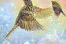 Visionary paintings ~ animal symbolism art / Paintings by Marjolein Kruijt with symbolism, animals / spiritual art www.marjoleinkruijt.com