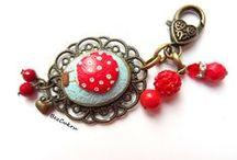 BezCukru - miniature food jewelry, fimo jewerly / handmade jewelry, miniature food, cupcake, biżuteria, kolczyki, naszyjnik, pierscionek, FIMO, polymer clay, miniaturowe,