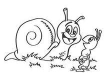 Lumache - Disegni da colorare / Disegni da colorare gratis per bambini nella categoria Animali Lumache.