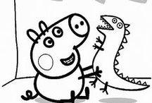 Peppa Pig - Disegni da colorare gratis per bambini / Raccolta di disegni da colorare e stampare gratis per bambini e bambine di Peppa Pig.