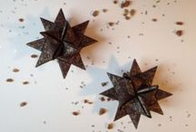 Paper Stars / Beautiful handcrafted paper stars also known as Froebel or Moravian Stars. These are made entirely without glue or pins yet are remarkably sturdy and long-lasting.
