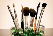 Idéias: Como guardar pincéis de maquiagem