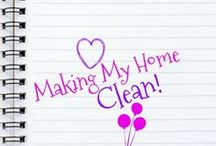 Making My Home CLEAN! / Simple ways to keep my home clean! Cleaning recipes, cleaning hacks and cleaning lists! Life is less stressful with a clean and happy home!